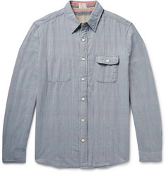 Faherty Belmar Reversible Cotton-Chambray Shirt
