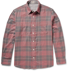 Faherty Belmar Reversible Checked Cotton-Flannel Shirt