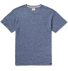Faherty Mélange Knitted Cotton-Jersey T-Shirt