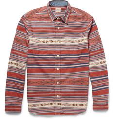 Faherty Slim-Fit Printed Cotton-Flannel Shirt