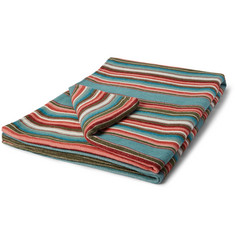 Faherty Sunset Serape Striped Brushed-Cotton Blanket