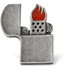 Saint Laurent Zippo Lighter Pin Badge