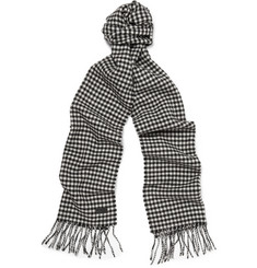 Saint Laurent Houndstooth Wool Scarf