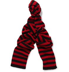 Saint Laurent Striped Wool Scarf