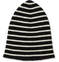 Saint Laurent Striped Wool Beanie