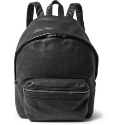 Saint Laurent Burnished-Leather Backpack