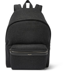 Saint Laurent Leather-Trimmed Felt Backpack