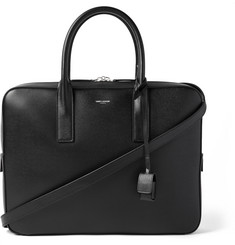 Saint Laurent Museum Small Pebble-Grain Leather Briefcase