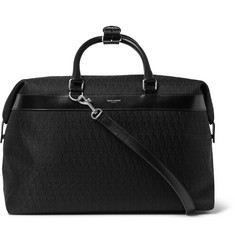 Saint Laurent Leather-Trimmed Monogrammed Jacquard Bag