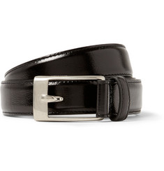 Saint Laurent 2.5cm Black Patent-Leather Belt
