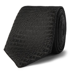 Saint Laurent Lizard-Jacquard Tie