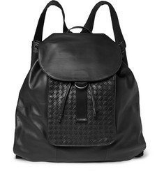 Bottega Veneta Intrecciato Leather Backpack