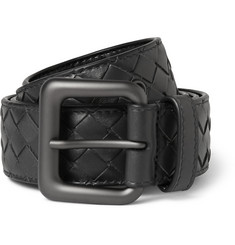 Bottega Veneta - 3.5cm Grey Intrecciato Leather Belt