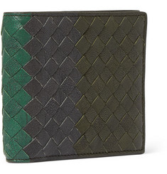 Bottega Veneta Three-Tone Intrecciato Leather Billfold Wallet