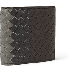 Bottega Veneta Tri-Tone Intrecciato Leather Billfold Wallet