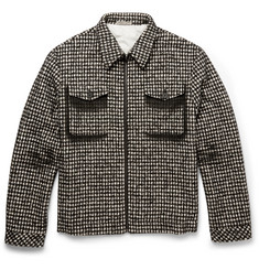 Bottega Veneta Checked Wool-Blend Jacket