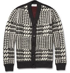 Tomorrowland Houndstooth Wool Cardigan