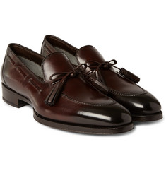 Tom Ford - Tasselled Burnished-Leather Loafers