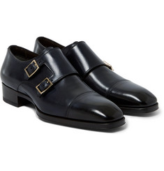 Tom Ford Polished-Leather Monk-Strap Shoes