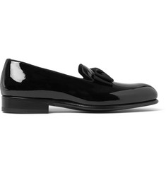 Tom Ford Bow-Trimmed Patent-Leather Loafers