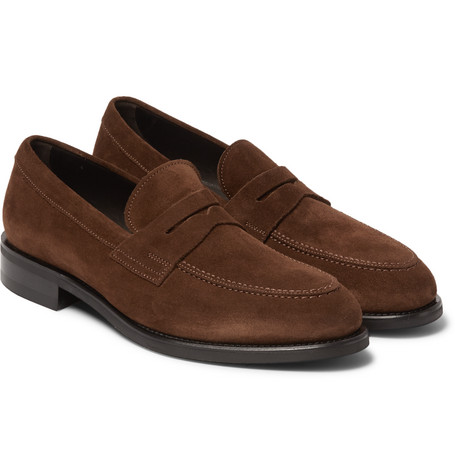 77f7512cfe4 Tom Ford Suede Penny Loafers In Brown | ModeSens