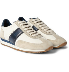 Tom Ford Suede and Leather-Trimmed Canvas Sneakers