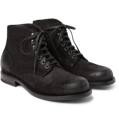 Bottega Veneta - Washed-Suede Boots