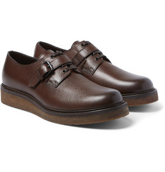 Bottega Veneta - Wedge-Sole Grained-Leather Derby Shoes