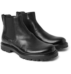 Bottega Veneta - Rubber-Trimmed Leather Chelsea Boots