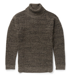 Etro Herringbone Wool and Mohair-Blend Turtleneck Sweater