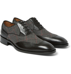 Etro - Leather and Woven Oxford Shoes