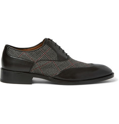 Etro Leather and Woven Oxford Shoes