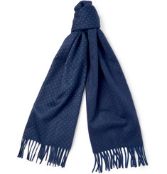 Loro Piana Polka-Dot Brushed-Cashmere Scarf