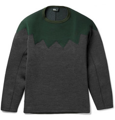 Kolor Panelled Wool-Blend Sweatshirt