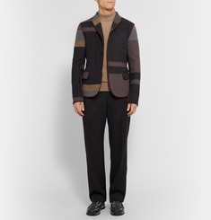 Kolor Patchwork Wool and Cashmere-Blend Blazer