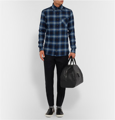 Kolor Slim-Fit Checked Cotton-Flannel Shirt