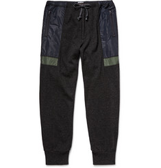 Kolor Shell-Panelled Wool and Cashmere-Blend Tapered Trousers