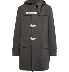 Kolor Melton Wool-Blend Duffle Coat