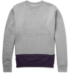 Kolor Wool-Trimmed Cotton-Jersey Sweatshirt