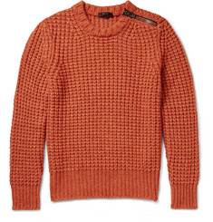 Belstaff Woodhurst Zip-Detailed Chunky-Knit Sweater
