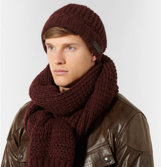 Belstaff Ardleigh Waffle-Knit Hat and Scarf Set