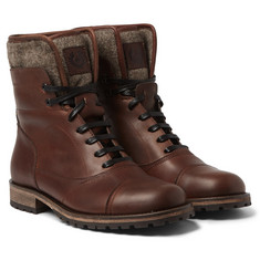 Belstaff - Faystar Felt-Trimmed Leather Boots