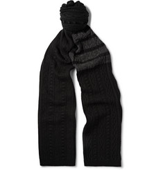 Thom Browne - Striped Cable-Knit Cashmere Scarf