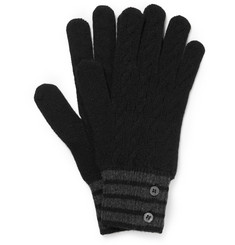 Thom Browne - Cable-Knit Cashmere Gloves