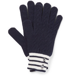 Thom Browne Cable-Knit Cashmere Gloves