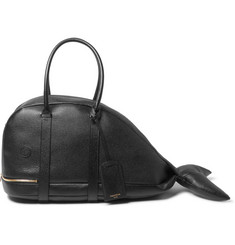 Thom Browne Grained-Leather Whale Bag