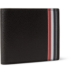 Thom Browne Striped Pebble-Grain Leather Billfold Walet
