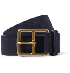Polo Ralph Lauren 3.5cm Navy Suede Belt