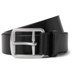 Polo Ralph Lauren 3cm Black Leather Belt