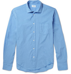 Hartford Spread-Collar Cotton Shirt